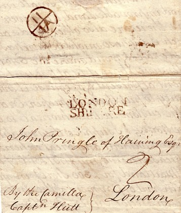 letter address format posts ship letter office 1766